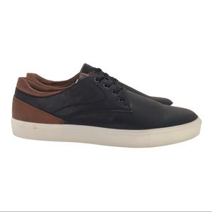 New! R2 Men's Faux Leather Lace Up Dress Sneakers
